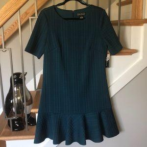 Jessica Howard Dark Teal Knit Dress Size 14 NWT